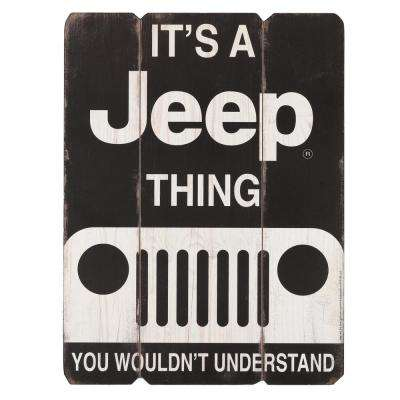 It's a Jeep Thing Rustic Wood Decorative Sign
