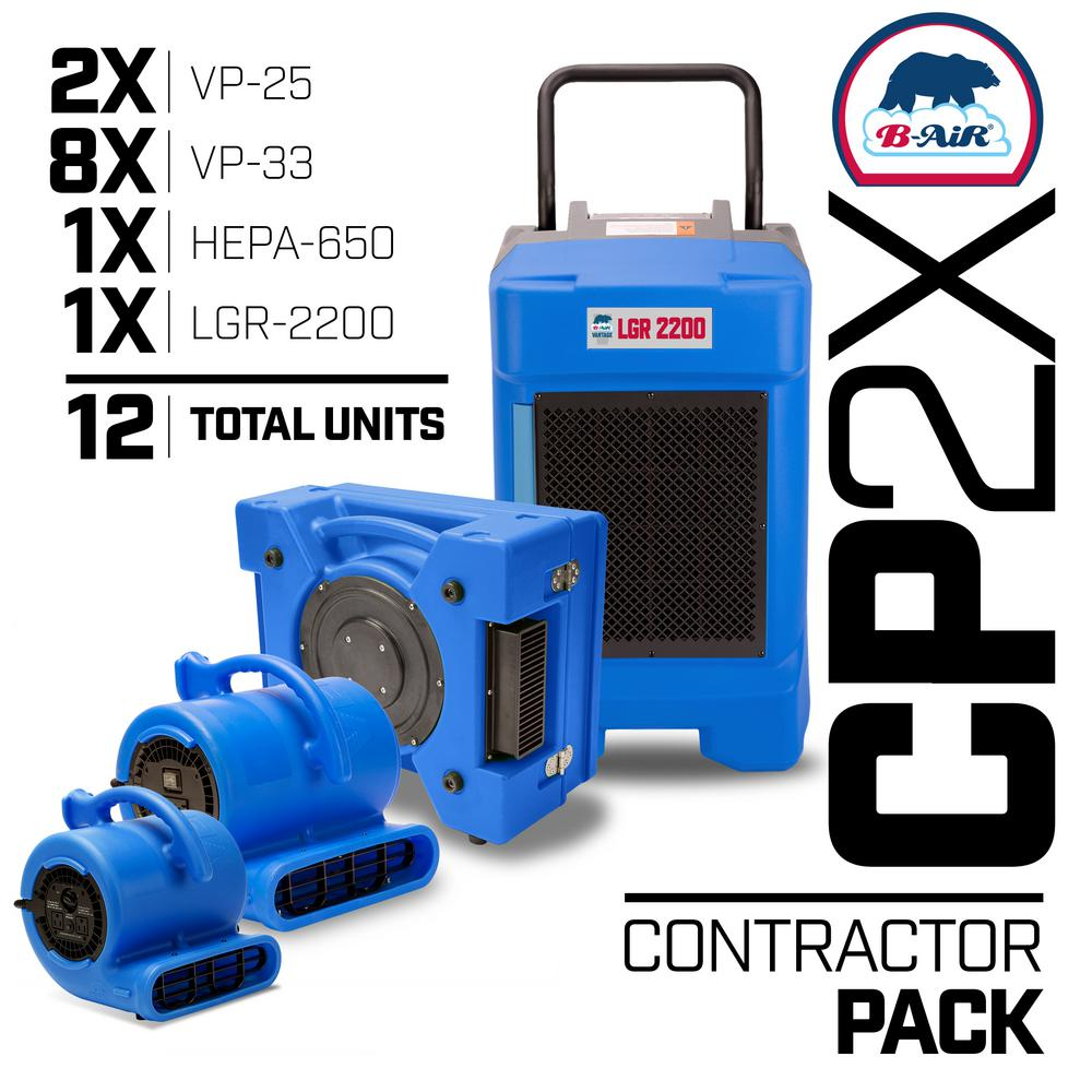 CP-2X Water Contractor Pack 1 LGR Commercial Dehumidifier 1 Air Scrubber