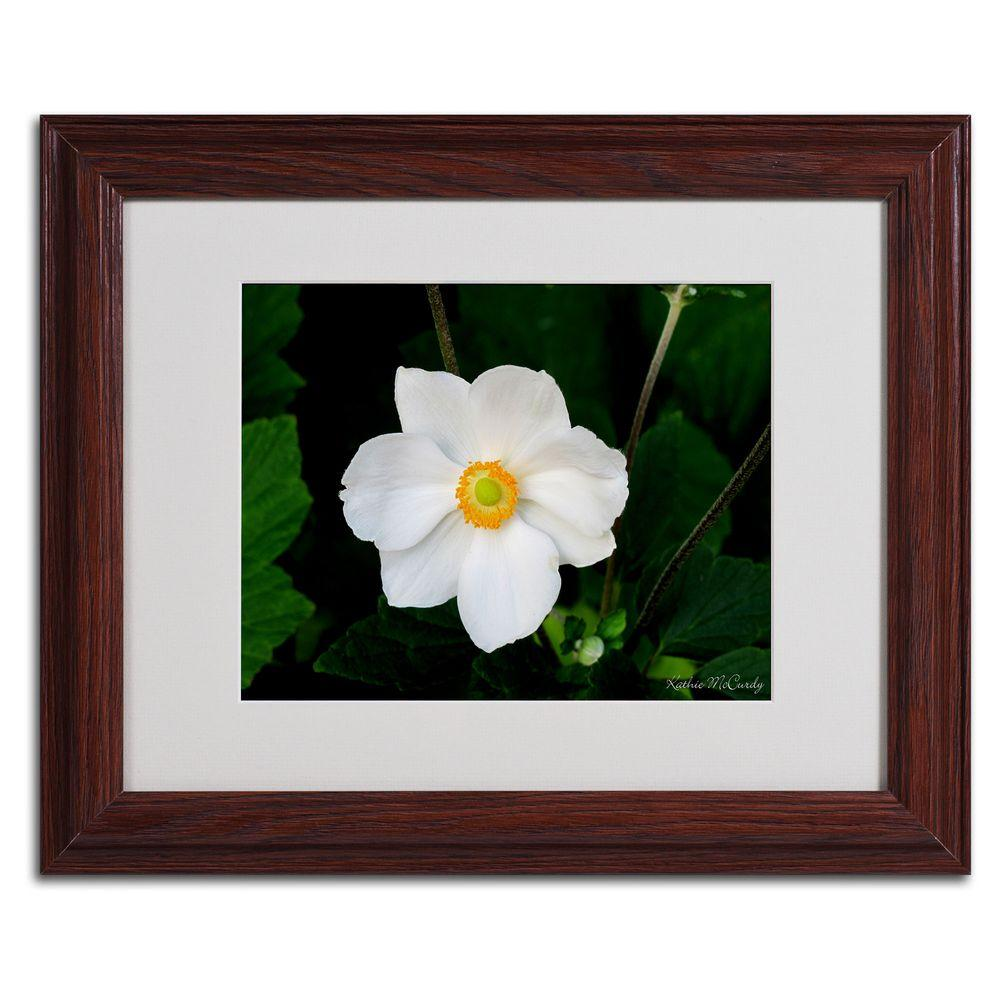 null 11 in. x 14 in. Big White Flower Matted Framed Art