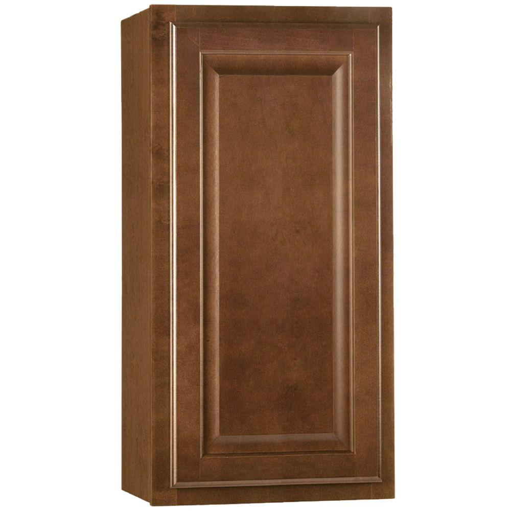 Hampton Assembled 15x30x12 in. Wall Kitchen Cabinet in Cognac