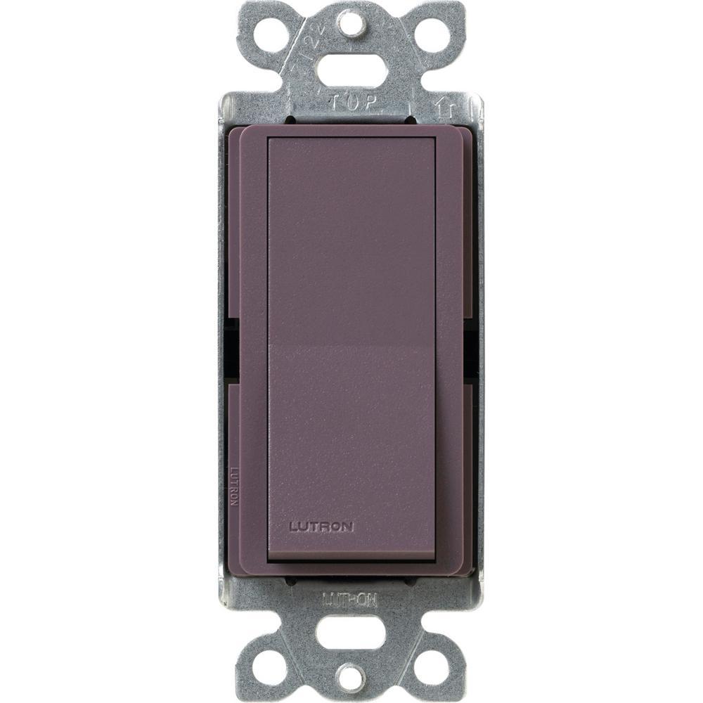 Lutron Diva Satin Colors 15 Amp 4-Way Switch, Plum