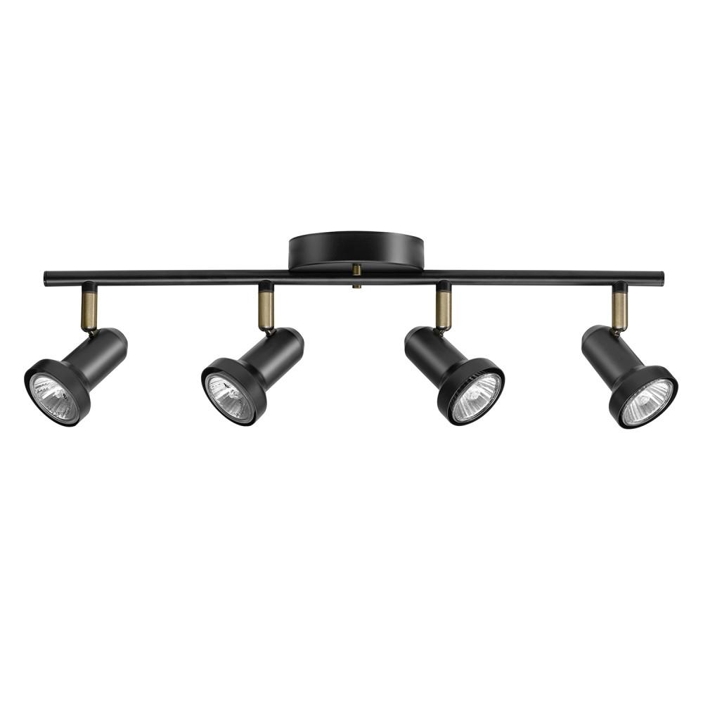 Globe Electric Melo 19 7 In 4 Light Dark Bronze Track Lighting Bulbs Included