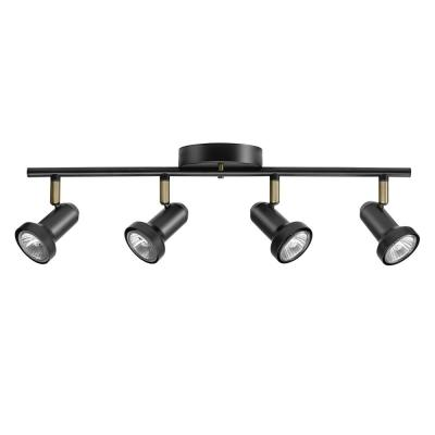 Melo 19.7 in. 4-Light Dark Bronze Track Lighting Bulbs Included