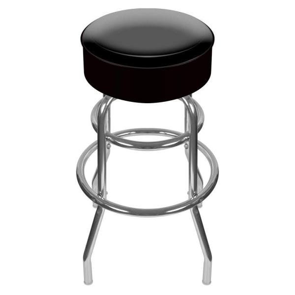 31 in. Chrome Swivel Cushioned Bar Stool
