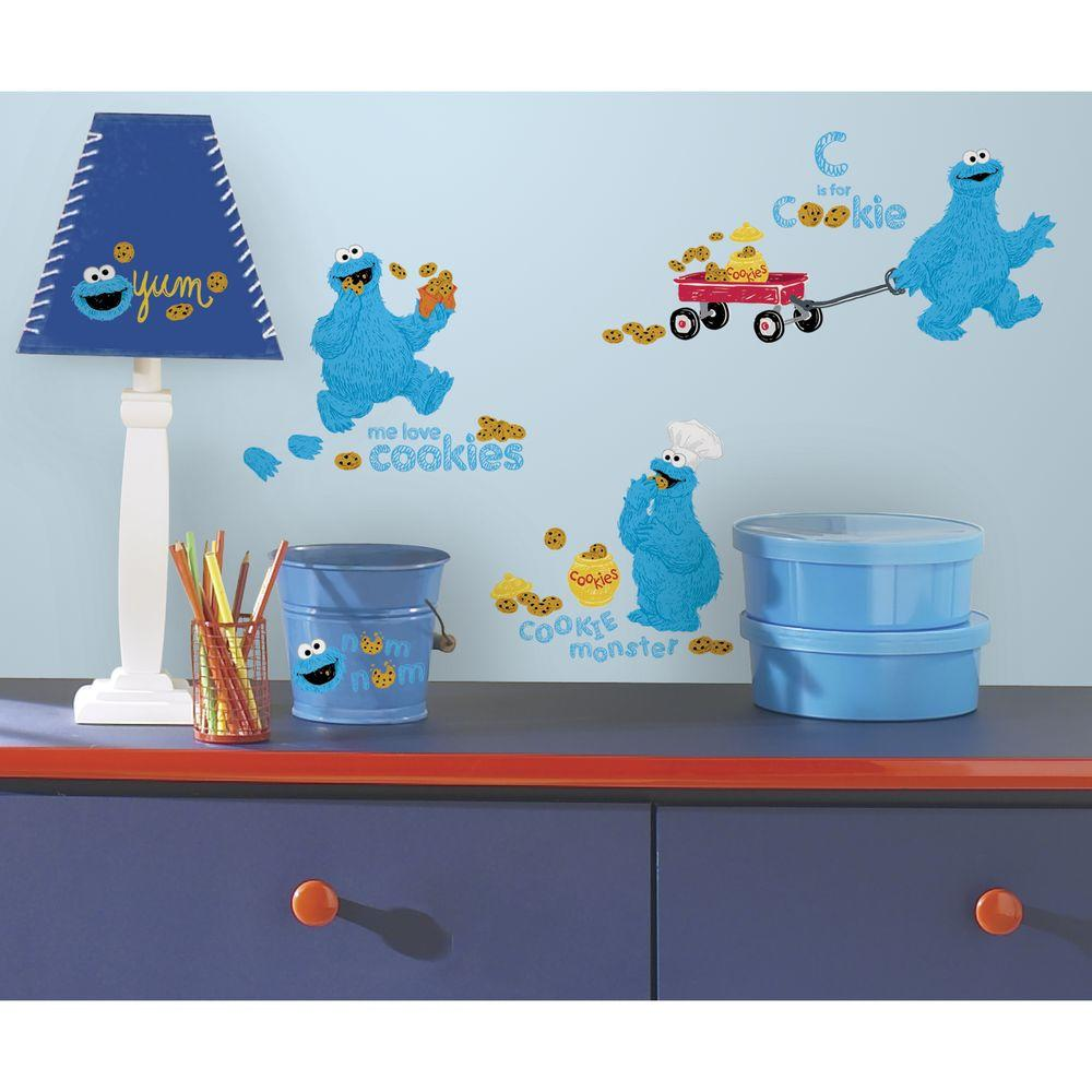 Sesame street me love cookie monster peel and stick wall decal