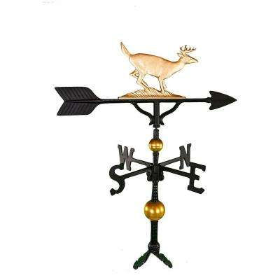 32 in. Deluxe Gold Buck Weathervane