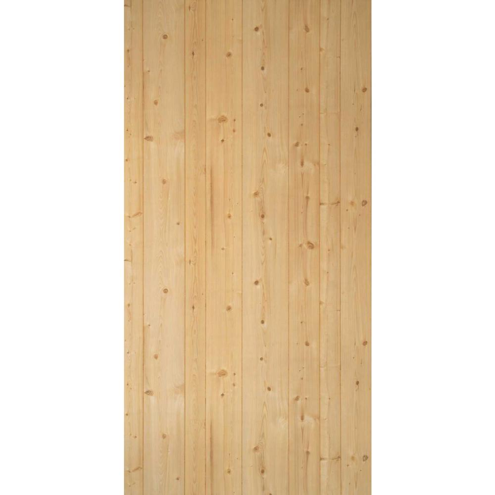 1/8 in. x 4 ft. x 8 ft. Rustic Pine Panel