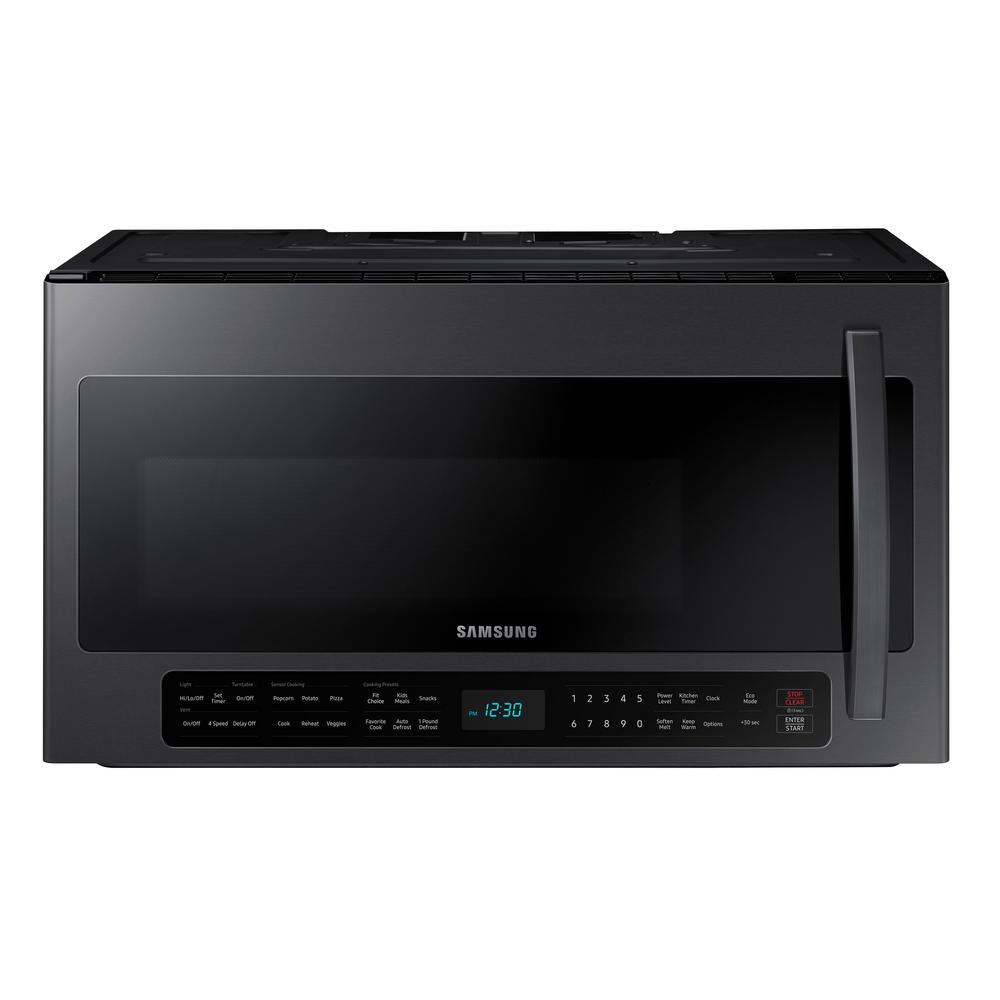 Samsung 2.1 cu. ft. Over-the-Range Microwave with Sensor Cook in Black Stainless Steel