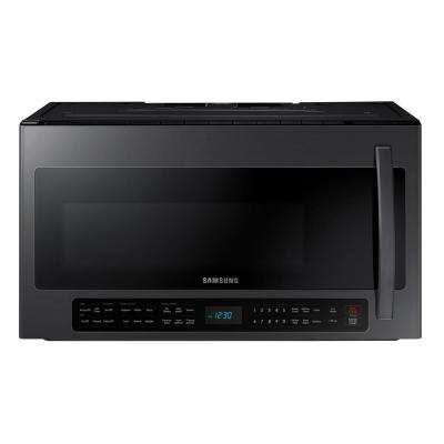 2.1 cu. ft. Over-the-Range Microwave with Sensor Cook in Black Stainless Steel