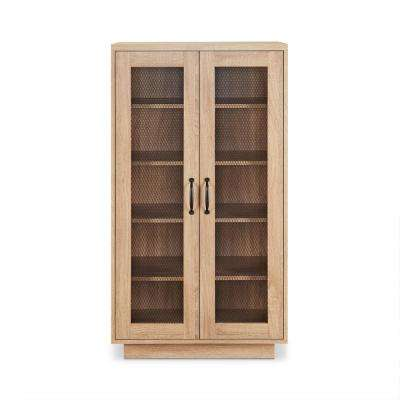 Glines 10-Pairs Weathered Light Oak Wood Shoe Storage Cabinet