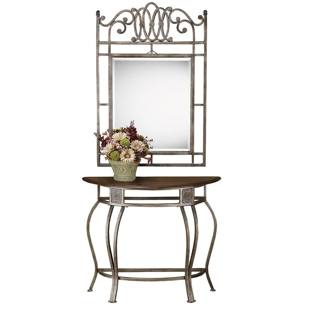 Hillsdale Furniture Montello Dynamic Old Steel Console Table