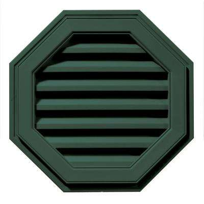 22 in. Octagon Gable Vent in Forest Green