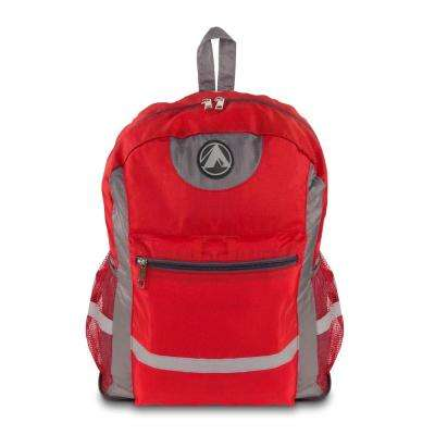Light Weight Foldable 13 in. Red Backpack