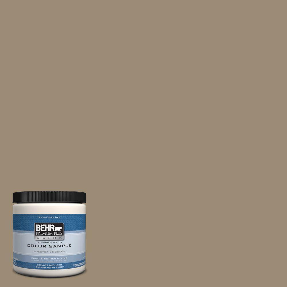 BEHR Premium Plus Ultra 8 oz. #T14-17 Archivist Satin Interior/Exterior Enamel Paint Sample