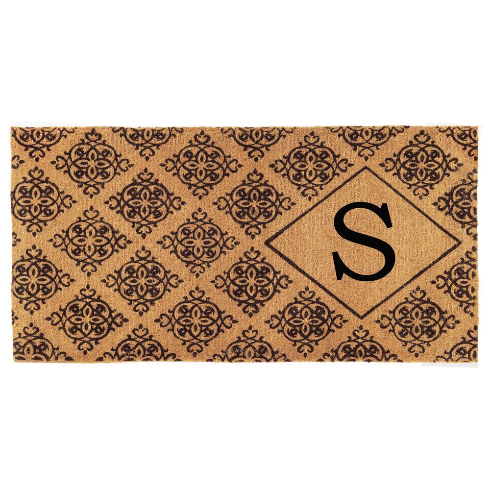 Regency 36 in. x 72 in. Monogram S Door Mat