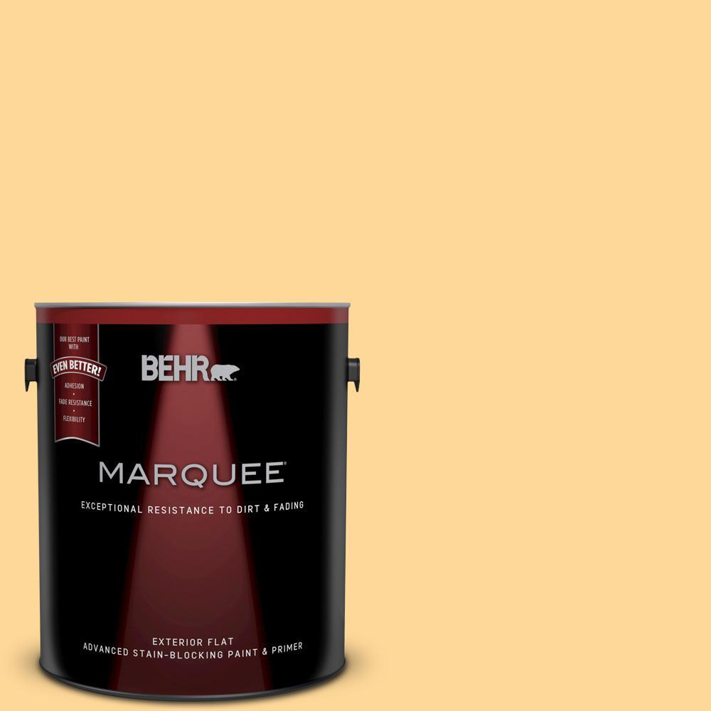1-gal. #P250-3 Marsh Marigold Flat Exterior Paint