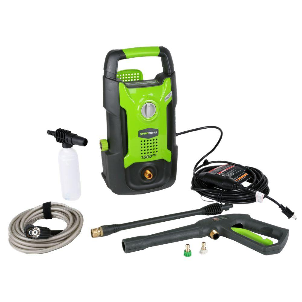 greenworks pressure washers gpw1501 64_1000 ryobi 2,000 psi 1 2 gpm electric pressure washer ry141900 the  at reclaimingppi.co