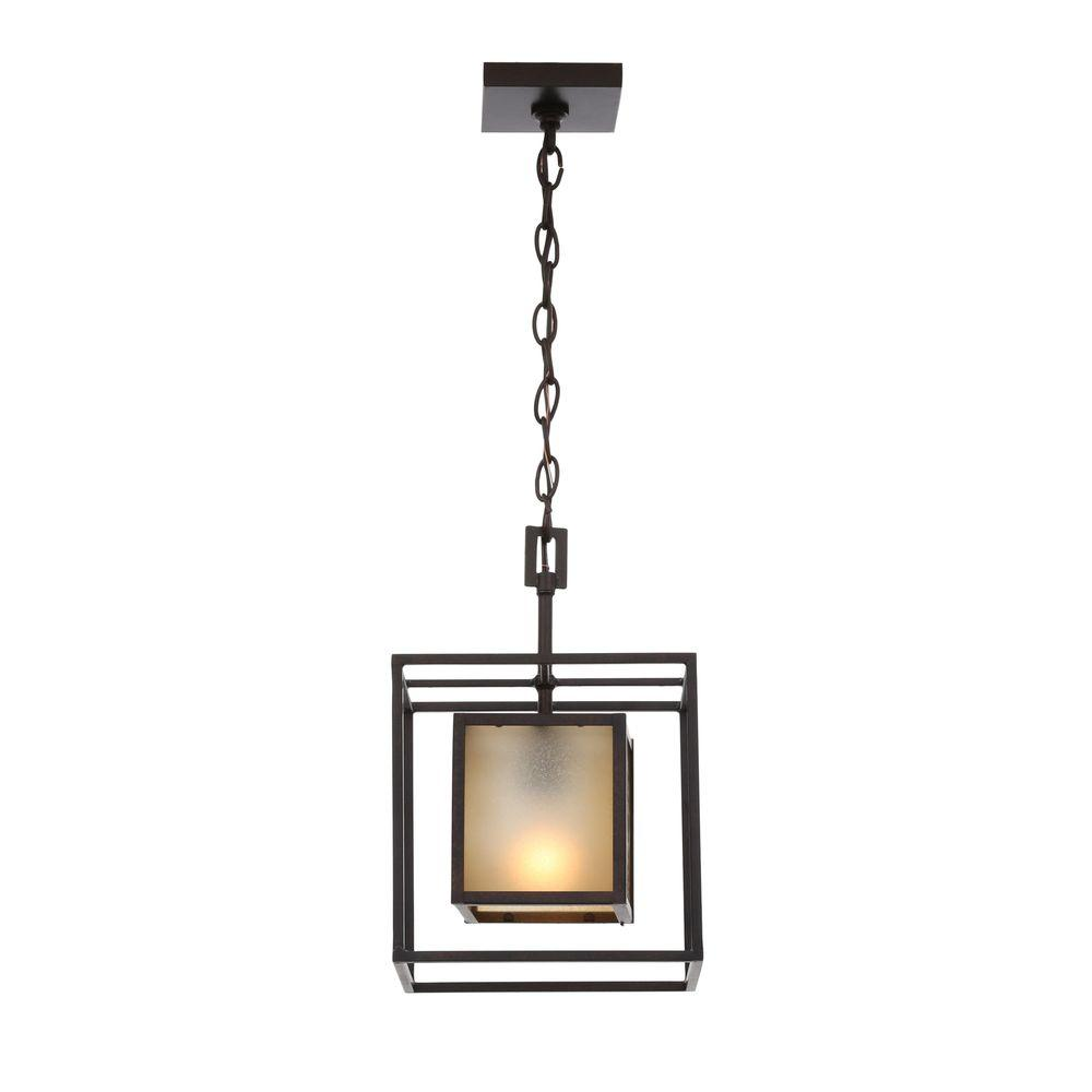 World Imports Hilden Collection 1-Light Aged Bronze Hanging Pendant