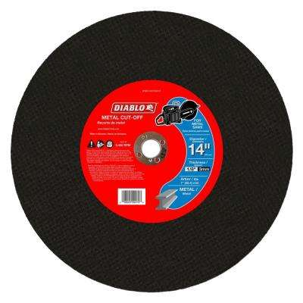 14 in. x 1/8 in. x 1 in. Metal High Speed Cut-Off Disc (5-Pack)
