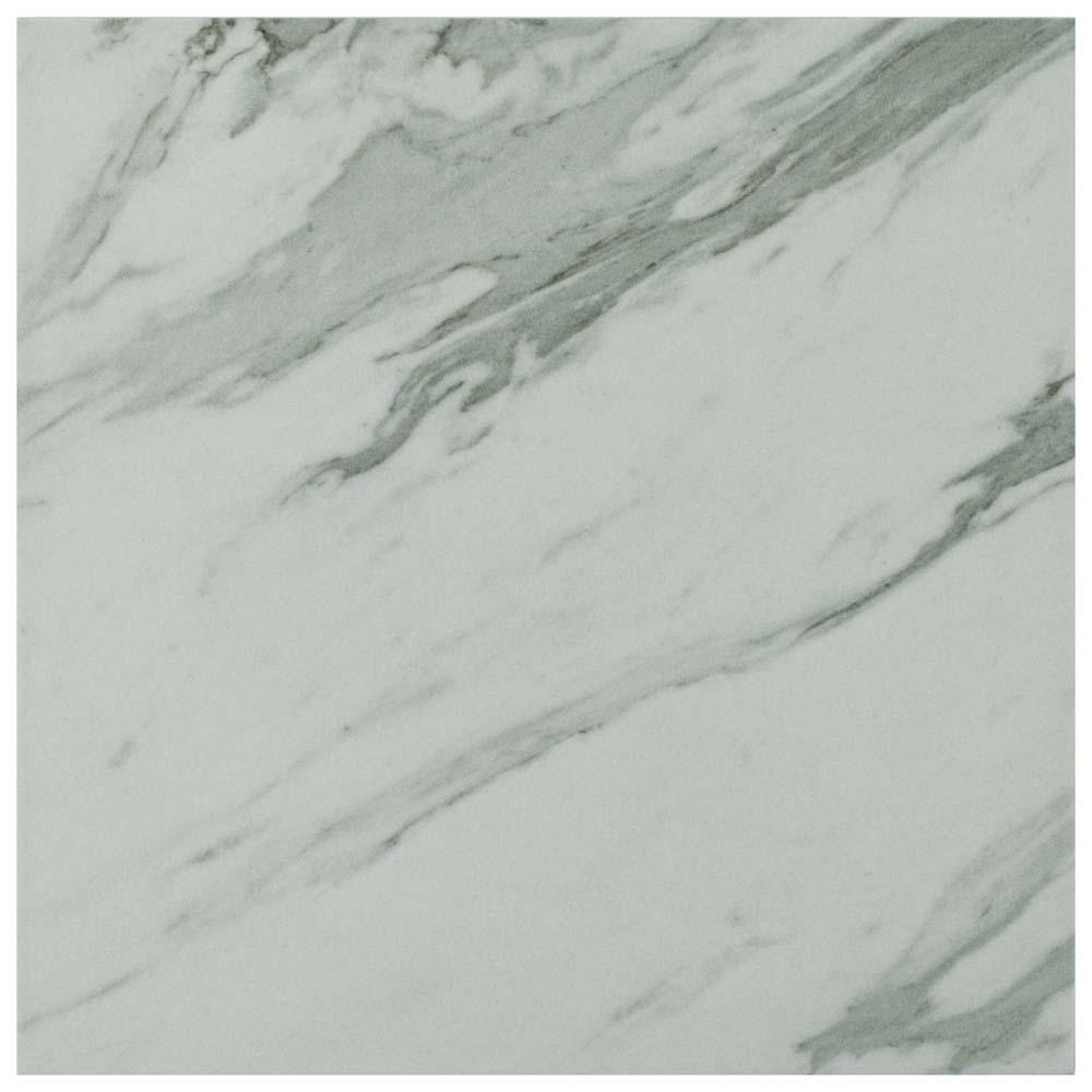 Eterno Carrara 9-3/4 in. x 9-3/4 in. Porcelain Floor and Wall