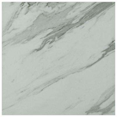 Eterno Carrara 9-3/4 in. x 9-3/4 in. Porcelain Floor and Wall Tile (10.76 sq. ft. / case)