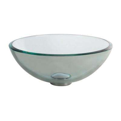 14 in. Glass Vessel Sink in Clear