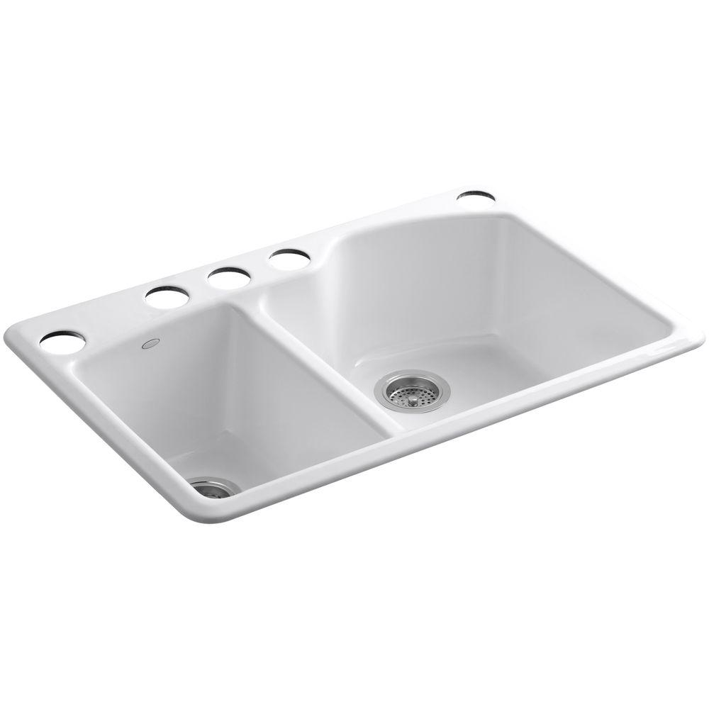 White Kohler Kitchen Undermount Sink