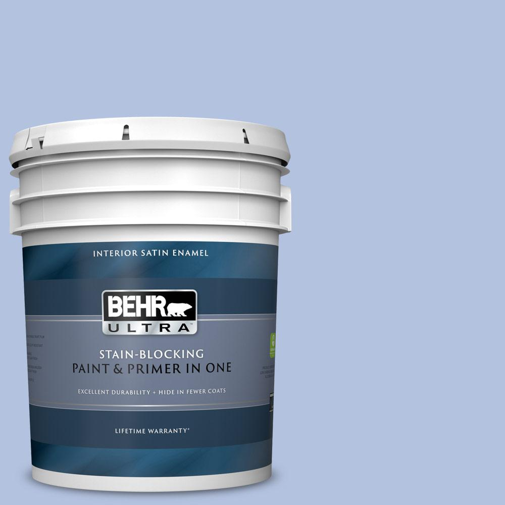 Behr Ultra 5 Gal M540 3 Eternal Elegance Satin Enamel Interior Paint And Primer In One 775005 The Home Depot