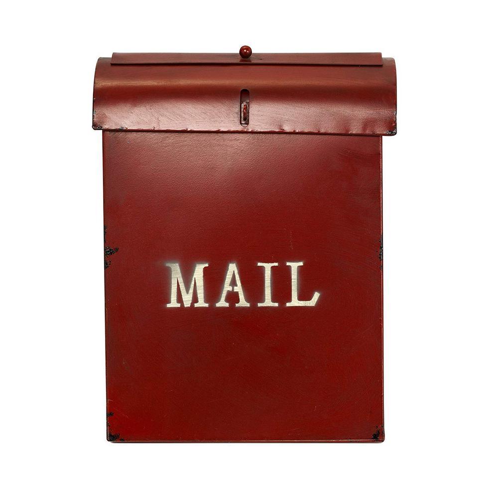 AdirHome Rustic Red Velvet Bird Feeder Design Mailbox