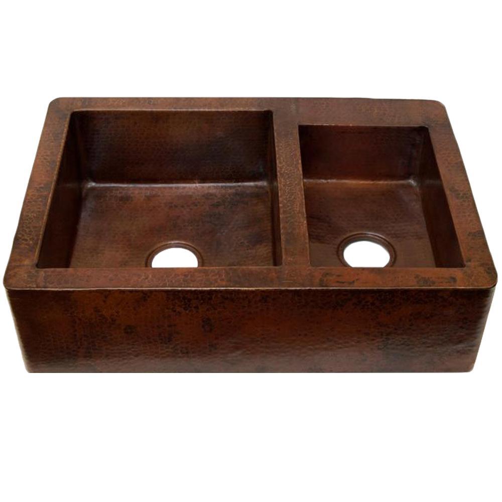 Apron Kitchen Sinks: SINKOLOGY Adams Farmhouse Apron Front Handmade Pure Solid