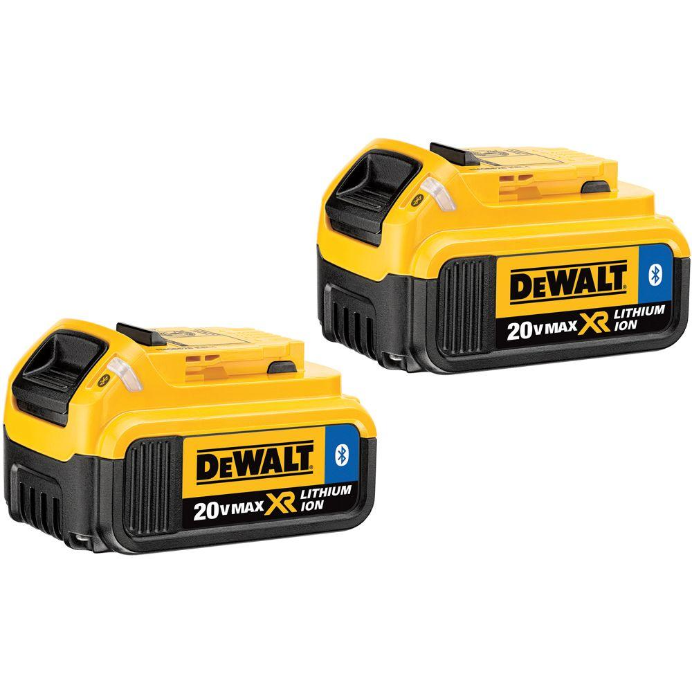 DEWALT 20-Volt MAX XR Lithium-Ion Premium Battery Pack 4.0Ah with Bluetooth Connectivity (2-Pack)