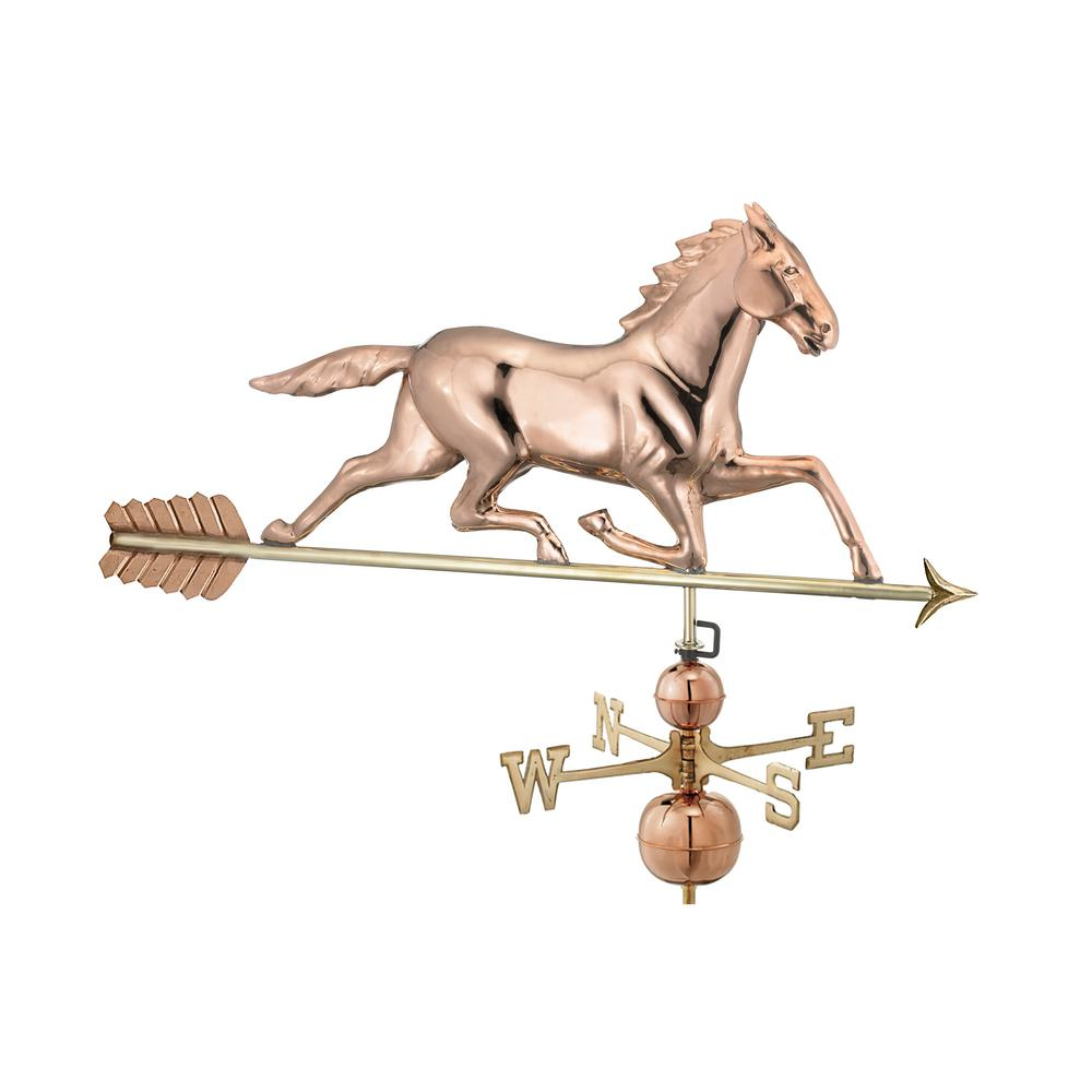 Large Horse Estate Weathervane - Pure Copper
