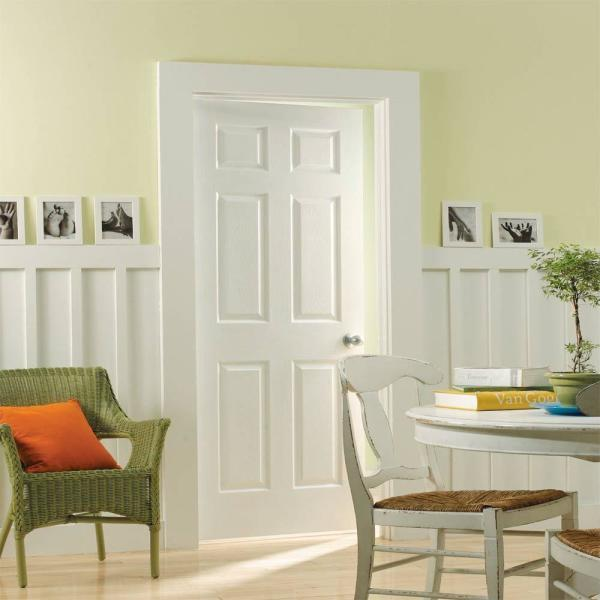 Masonite 24 In X 80 In Primed Textured 6 Panel Hollow Core Composite Interior Door Slab With Bore 61070 The Home Depot