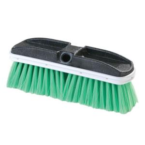 Carlisle 10 inch Flo-Thru Flagged Green Nylex Truck Wash Brush (Case of 12) by Carlisle