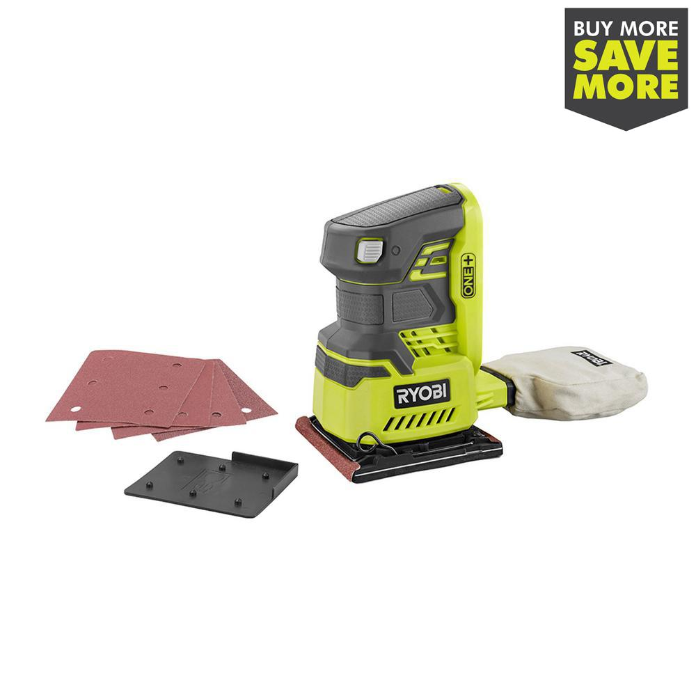 18-Volt ONE+ Cordless 1/4 Sheet Sander (Tool-Only) with Dust Bag