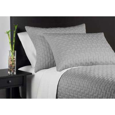 100% Rayon from Bamboo Black Pearl Queen Coverlet Set