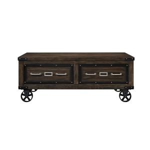 Acme Furniture Kailas Dark Oak Built-In Storage Coffee Table by Acme Furniture