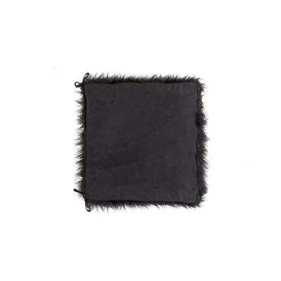 Laredo Black Faux Sheepskin Fur Chair Pad with Ties (Set of 2)