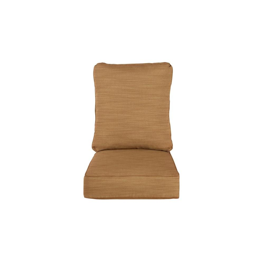Vineyard Replacement Outdoor Motion Lounge Chair Cushion in Toffee