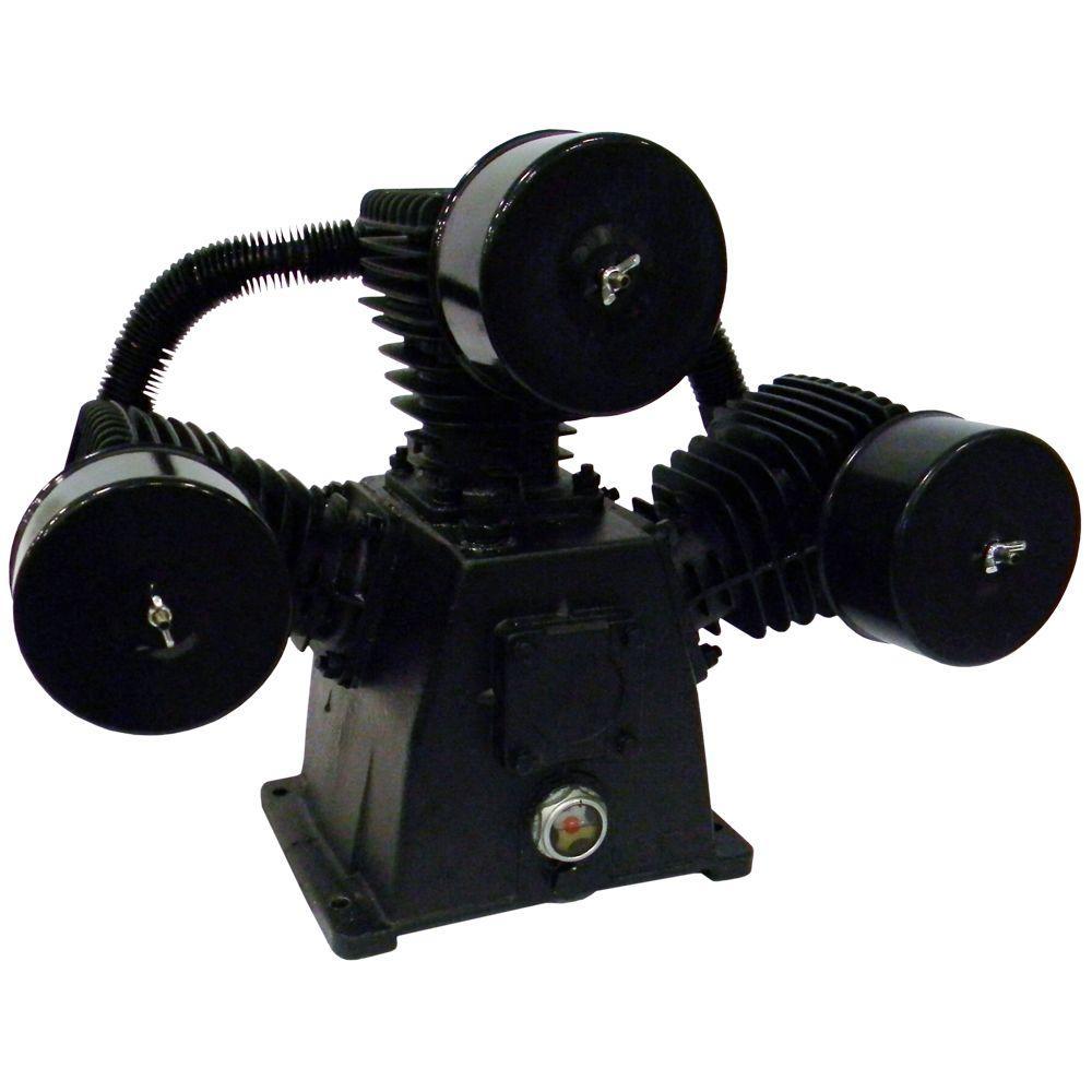 3 Cylinder High Flow Cast Iron Air Compressor Pump