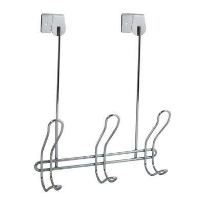 Classico Over-the-Door 3-Hook Rack in Chrome