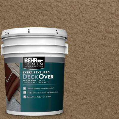 5 gal. #SC-147 Castle Gray Extra Textured Solid Color Exterior Wood and Concrete Coating