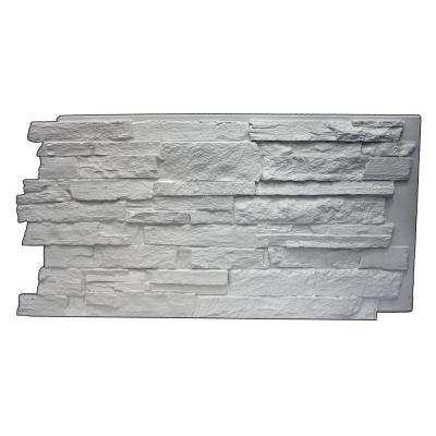 Faux Mountain Ledge Stone 24-3/4 in. x 48-3/4 in. x 1-1/4 in. Panel Dove White