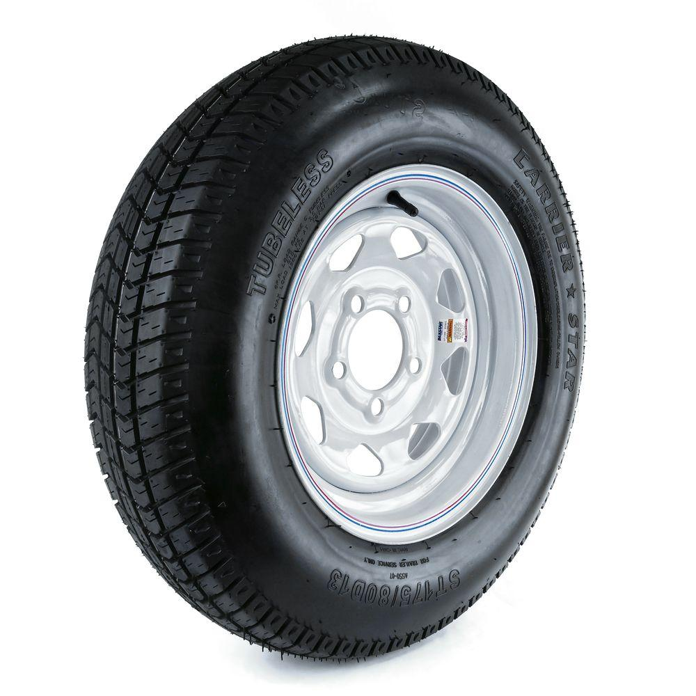 175/80D-13 Load Range C 5-Hole Custom Spoke Trailer Tire ...