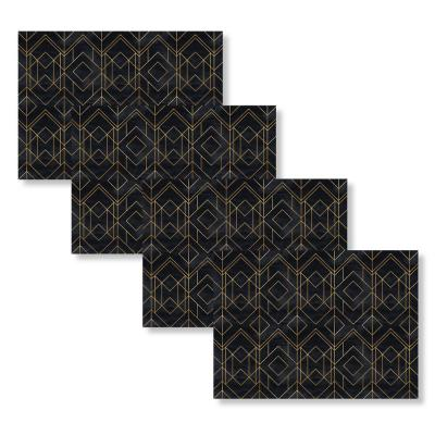 Mid-Century Modern Diamond 18 in. W x 13 in. L Polypropylene 4-pack Placemat Set