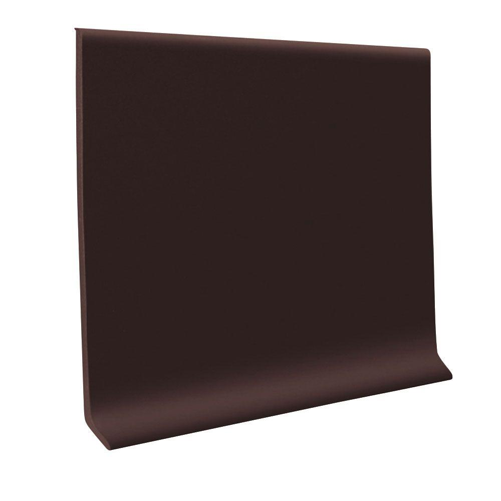 ROPPE Pinnacle Brown 4 in. x 48 in. x 1/8 in. Rubber Wall Cove Base (30-pieces)