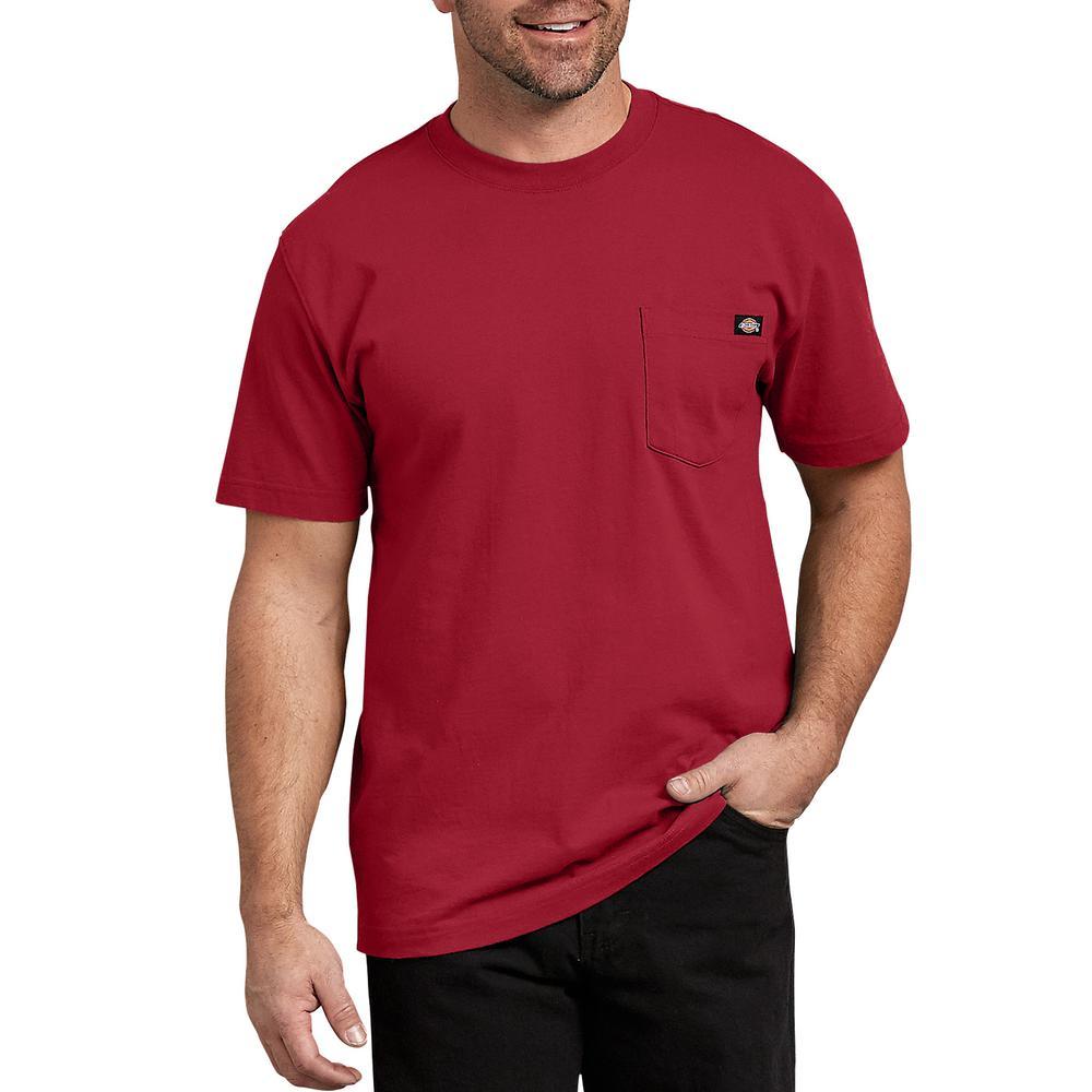 096271b8 Dickies Men's English Red Short Sleeve Heavyweight T-Shirt-WS450ER ...