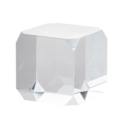 Modern 3.5 in. Square Glass Cube Clear