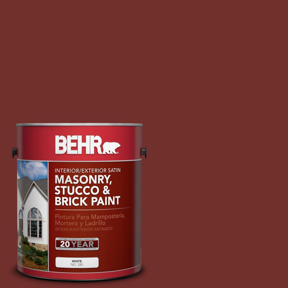 1 gal. #BXC-76 Florence Red Satin Interior/Exterior Masonry, Stucco and Brick