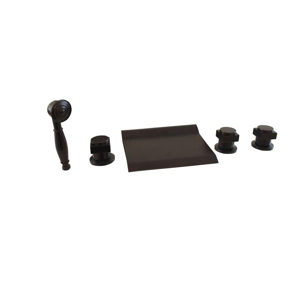 3 handle tub and shower faucet bronze. Kokols 3 Handle Deck Mount Roman Tub Faucet with Handshower in Oil Rubbed  Bronze